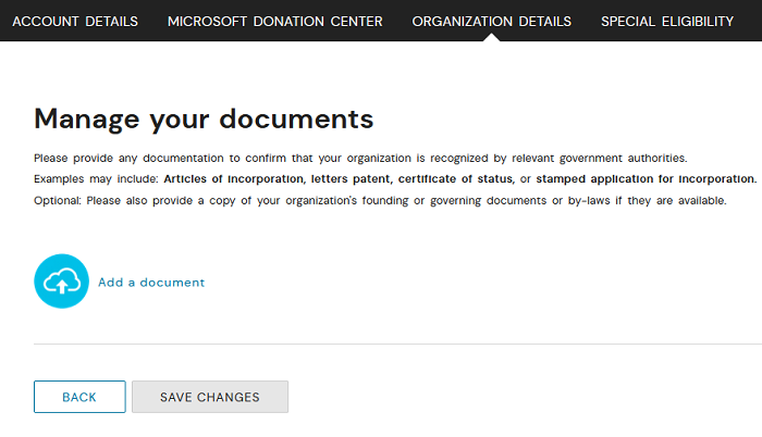 Upload your documents directly in your account